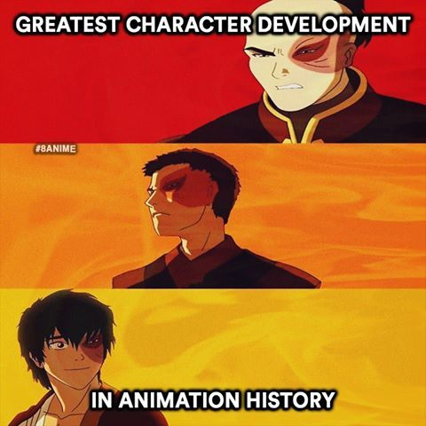 Zuko went from being the most hated to the most loved character.