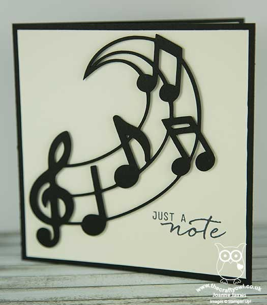 The Crafty Owl | Just a Note Music Note Thank You Card and Box Frame