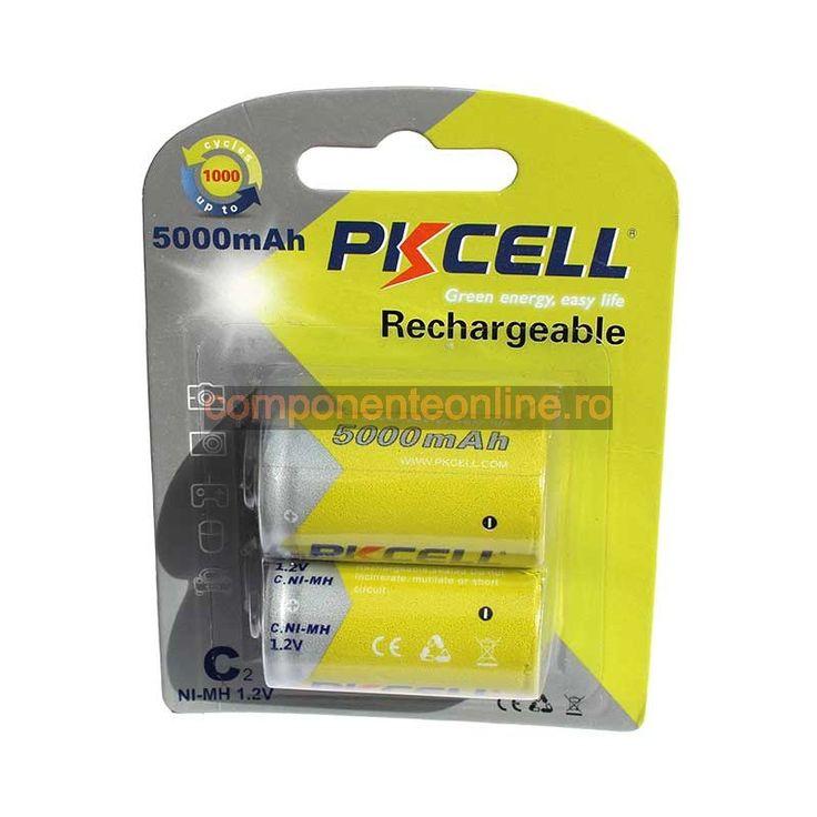 Acumulator R14, 5000mAh, NiMh, 2 bucati, PKCELL - 201330