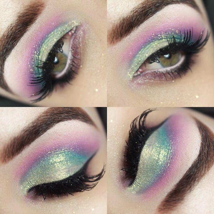 Iridescência - Tutorial – maquiagem colorida Unicórnio Candy Color