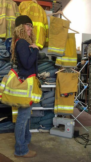 Firefighter Turnout Bags by Niki Rasor   SHOP BAGS