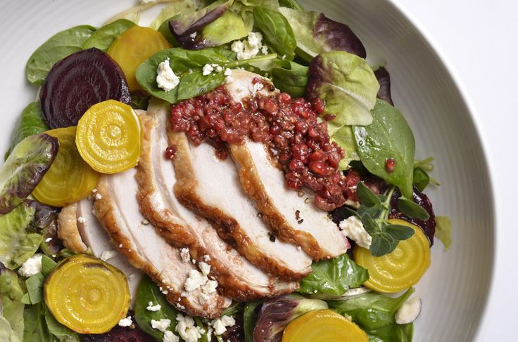 Roasted Turkey Breast and Beet Salad with Raspberry Vinaigrette