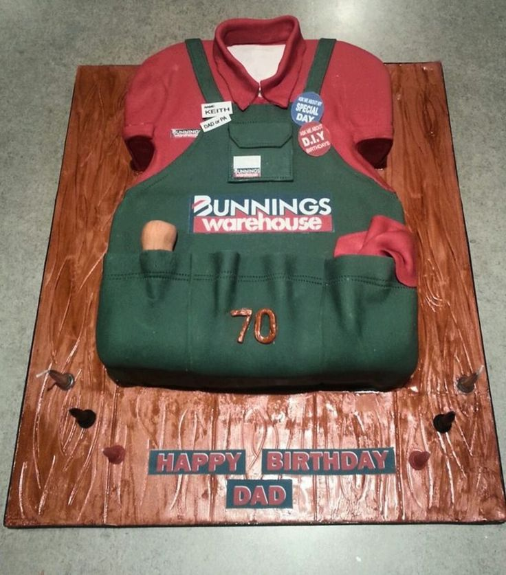 Bunnings cake in 2020 with images dad cake over the