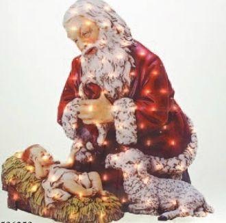 Kneeling Santa Yard Art - Acrylic Coating