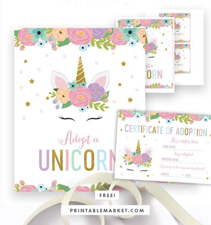12+ Unicorn birthday free printables inspirations