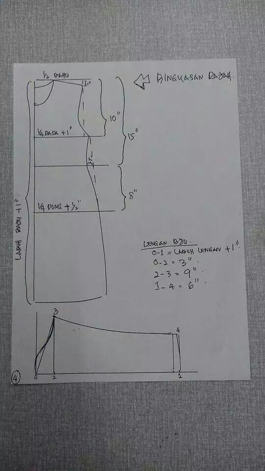 Kurung moden step3 - lengan
