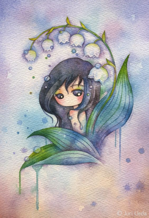 https://flic.kr/p/fS6k56 | satsuki | Approx. 15cm x 22cm / watercolor on paper / 2013  *sold*