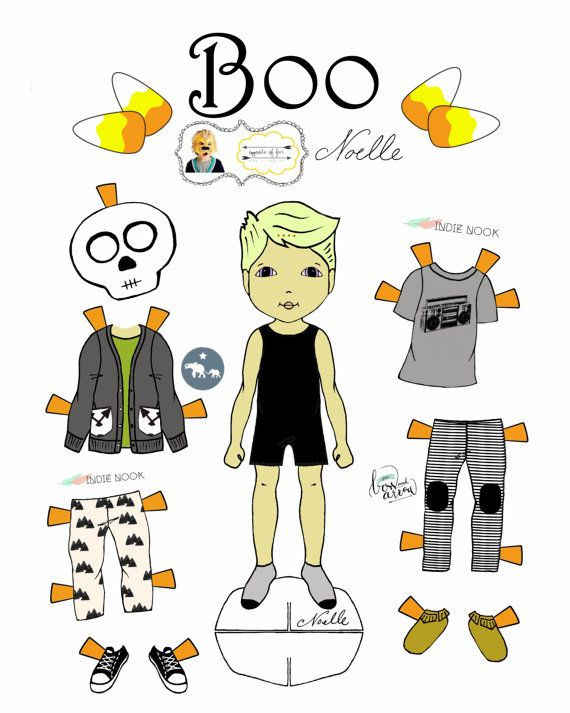 Opposite Of Far Story Book Collaboration Boo Paper Doll