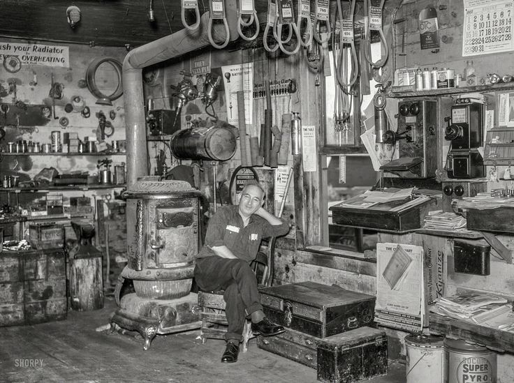 Shorpy Historic Picture Archive :: The Village Smithy: 1937 high-resolution photo