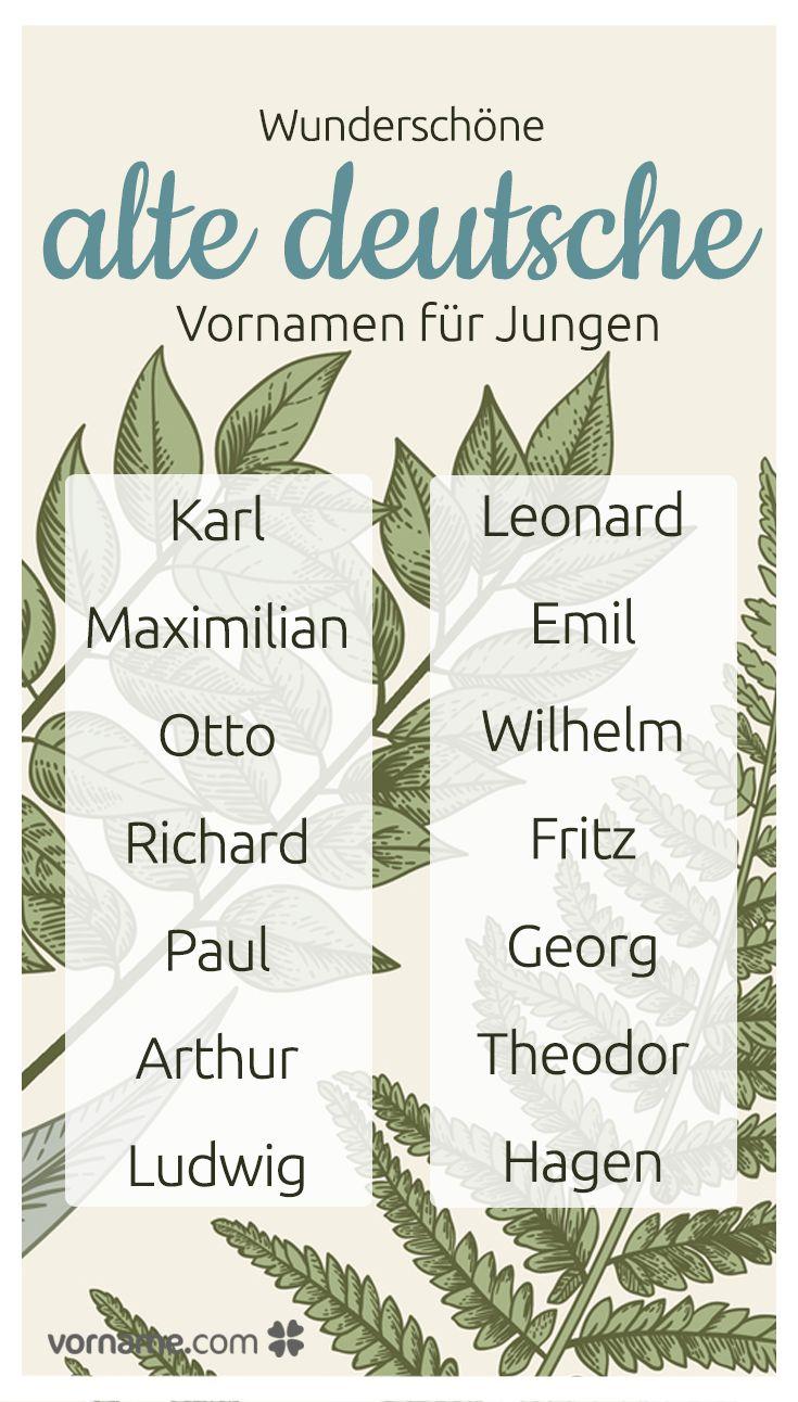 Bezaubernder Vintage-Charme: 47 altdeutsche Jungennamen in