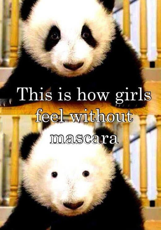 How girls feel without mascara.