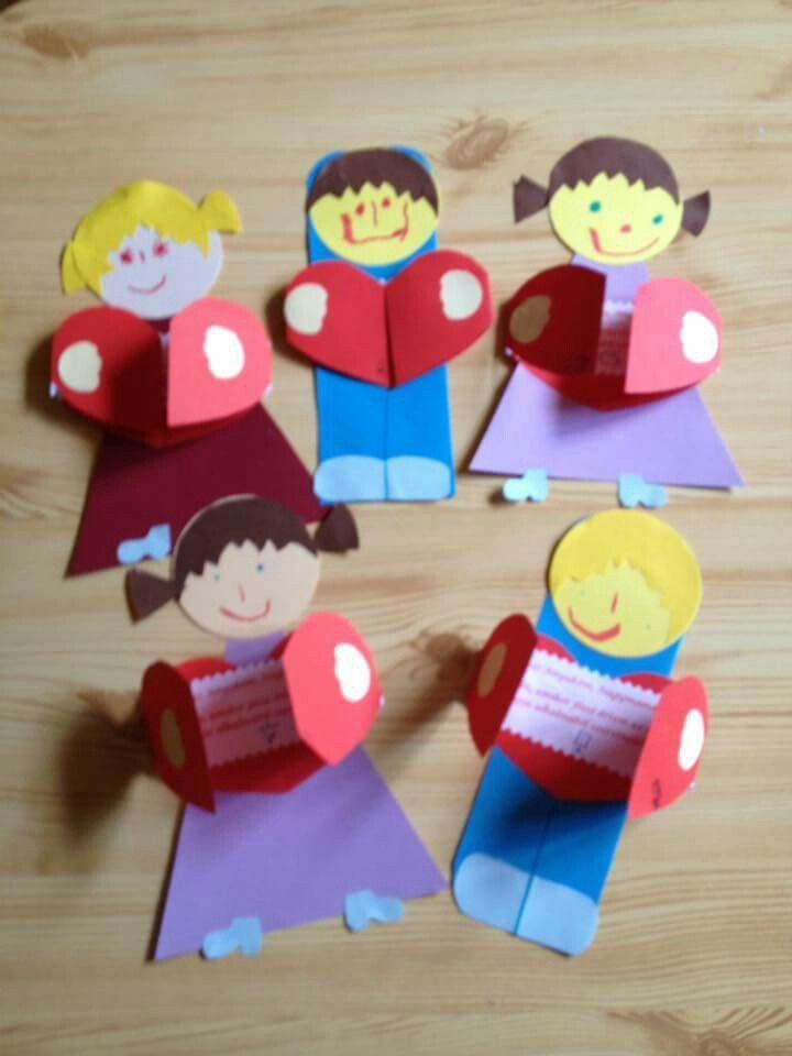 Kinder mit Herz Spruch Karte
