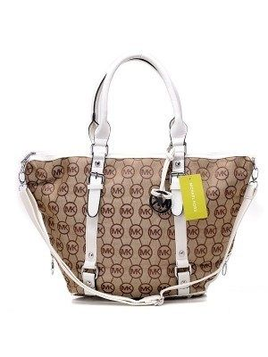 Michael Kors Classic Tote Removable strap Light Brown White