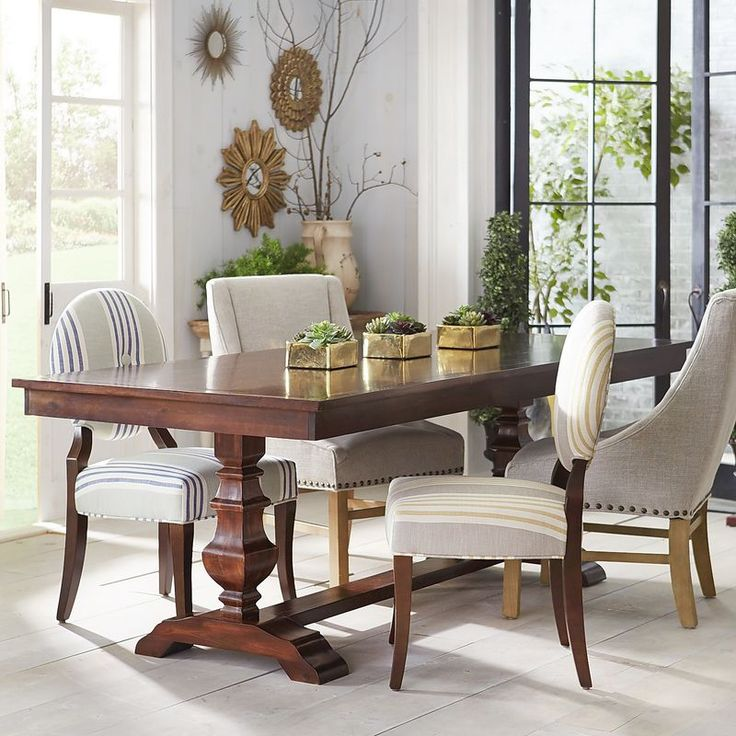 Espresso 84 dining table pier 1 imports espresso and for Pier 1 dining room pictures