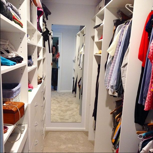 A fairly standard sized walk in wardrobe from a month or so ago. The difference - good storage and a well designed space means that the small area won't get overwhelmingly cluttered and messy. If your existing walk in wardrobe needs a new internal fit out to make it more functional, get in touch via the website for design and consultation! #cleverclosetcompany #cleverclosetco #wardrobedesign #wardrobe #closet #walkinwardrobe #wardrobefitout #wardrobeinterior