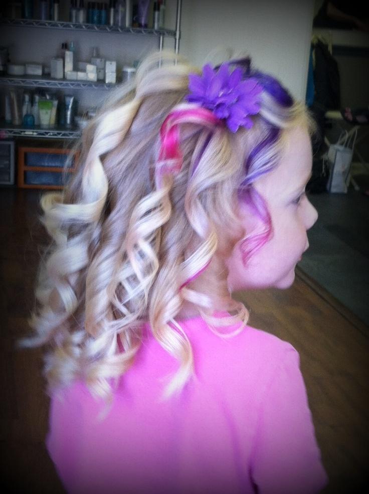 Pravana Purple And Undercut - Dark Brown Hairs