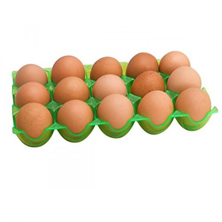 Cubee Egg tray/egg rack Container Shatter-proof In Green Color