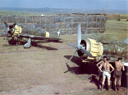 Macchi Fighter planes in Russia WWII
