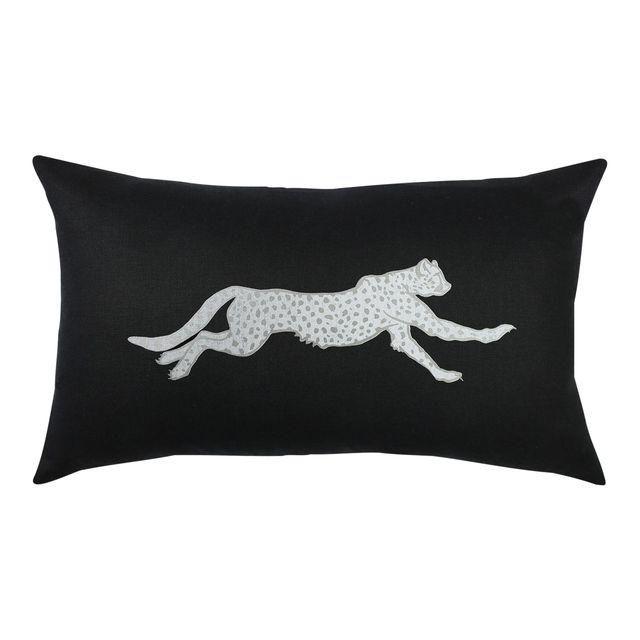 Image of Black & Silver Cheetah Lumbar Pillow