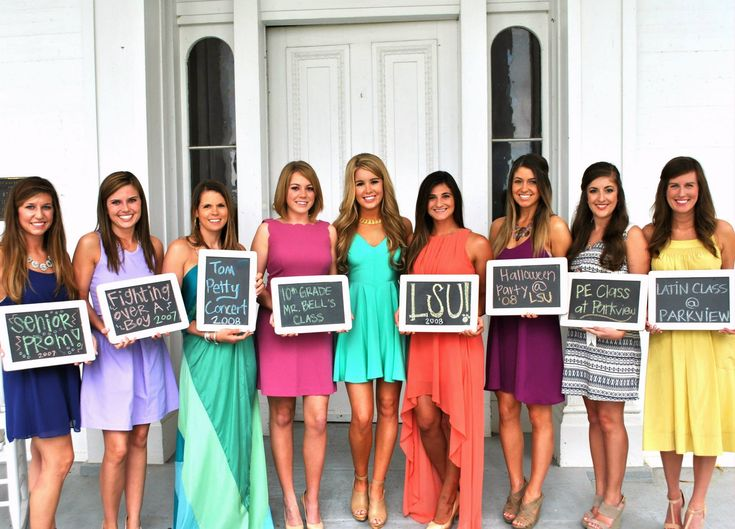 How the bridesmaids met the bride. So cute! Can we do this at the rehearsal dinner? The boards would be cheap!