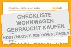 Checkliste Wohnwagen gebraucht kaufen | markt.de #wohnwagen #kaufen #gebraucht #checkliste #kostenlos