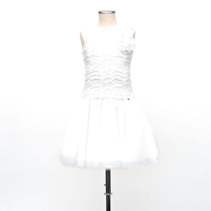 Miss Grant udsalg børnetøj Broderet kjole med pailletter og tyl tilbud børnetøj