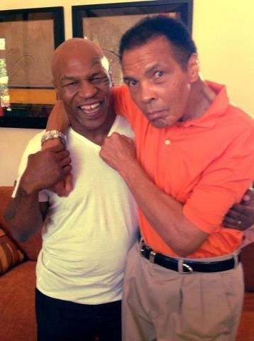 Mike Tyson & Muhammad Ali.  Both considered 'the baddest man on the planet' at times in their life.