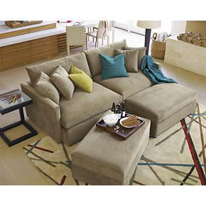 crate and barrel lounge sectional - so much lounge! w