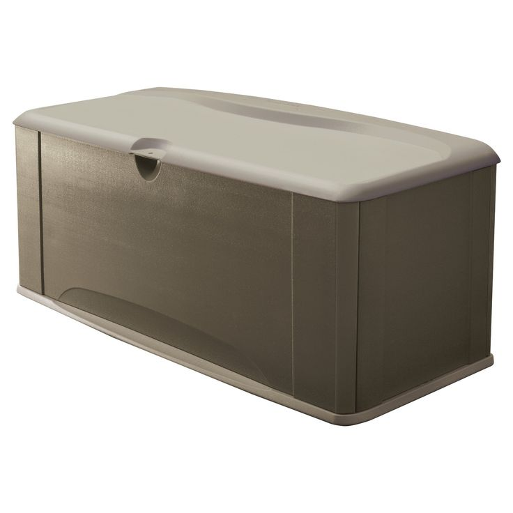 XL Deck Box with Seat - Rubbermaid, Crystal Olive/Light Pebble