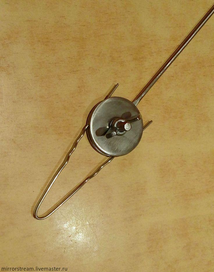 Купить Шпилька для волос+держатель - серебряный, инструменты для лэмпворка, шпилька для волос, нержавеющая сталь