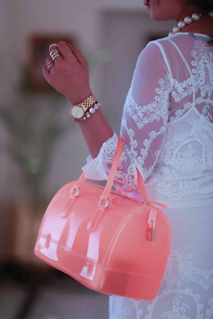 Furla Candy bag neon orange
