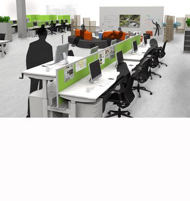 Pillar Sit/Stand Workstation: Make it your new years resolution to get your whole team standing while working!
