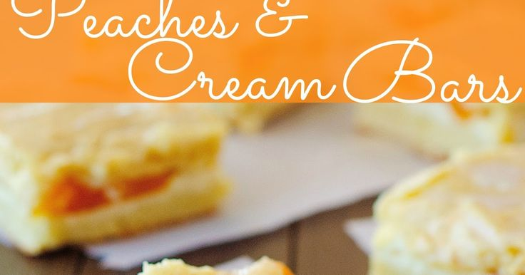 Peaches and Cream Bars recipe from The Country Cook! Layers of crunch cookie base, cheesecake and peach pie filling makes for an amazing summertime dessert! Southern, Country, Cooking, Recipe