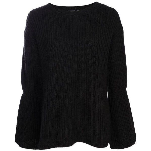 Boohoo Hannah Wide Sleeve Chunky Jumper (220 EGP) ❤ liked on Polyvore featuring tops, sweaters, party jumpers, short-sleeve turtleneck sweaters, chunky turtleneck sweater, chunky turtleneck sweaters and sequin sleeve sweater
