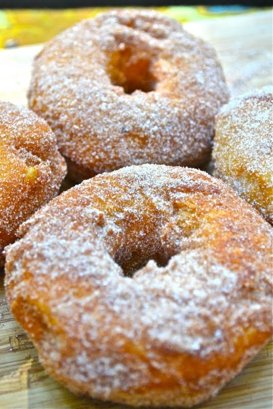 Canned Biscuit Campfire Cinnamon Sugar Doughnuts _ This is the perfect method for those of you who want a hot, fresh doughnut without all the work of a traditional recipe, and honestly, we thought they were just as tasty as coffee dunkers prepared the old-fashioned way.