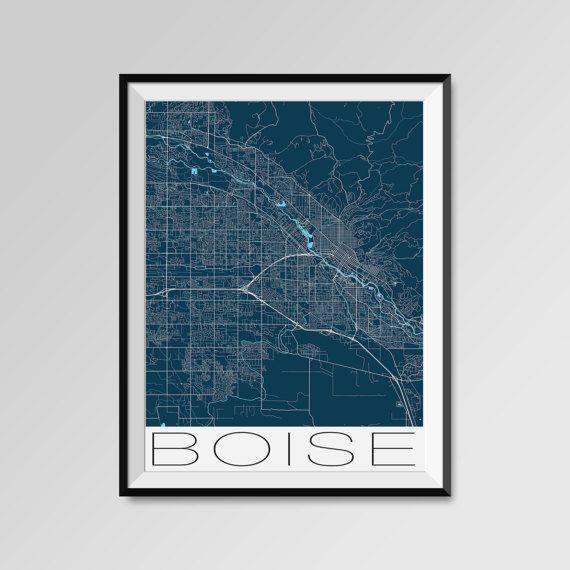 Boise map, Idaho print, Boise poster, Boise map art, Boise city maps, Boise Minimal Wall Art, Boise Office Home Décor, black and white custom maps, personalized maps  • Custom city maps - ANY CITY IN THE WORLD - Personalized maps https://www.etsy.com/listing/285914507/any-city-in-the-world-custom-city-map  Special offer - MULTIPRINT DISCOUNT