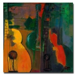 Boyer 'Guitars' Contemporary Canvas Art