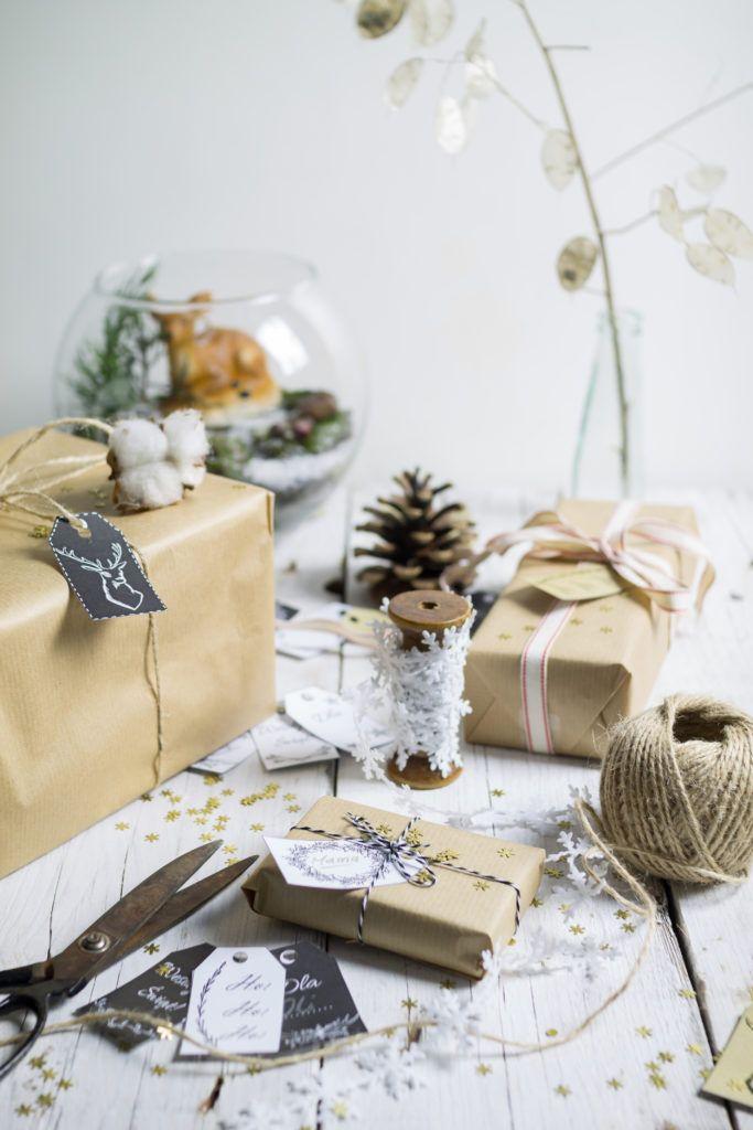 Christmas gift tags - free printable    Cupcake Factory