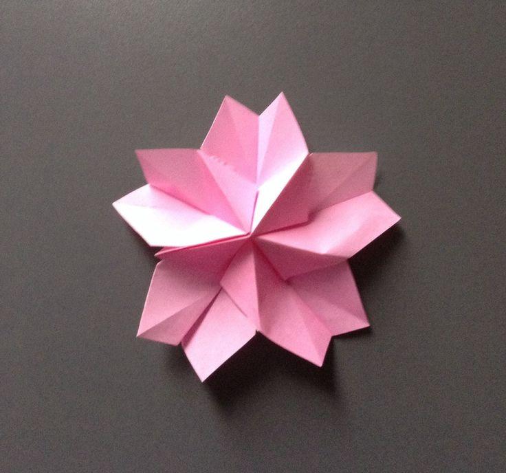折り紙 綺麗な桜の花びら 折り方 作り方
