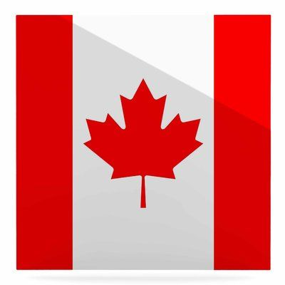 """East Urban Home 'Flag of Canada' Graphic Art Print on Metal Size: 10"""" H x 10"""" W x 1"""" D"""
