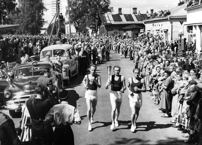 Torch Relay Olympics Helsinki 1952