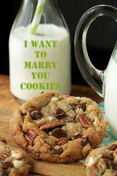 Crazy good, that's what these cookies are and they're said to bring marriage proposals. I haven't experienced that but then again I am very happily married. Maybe these are what keep me that way, hmmmm - I Want to Marry You Cookies