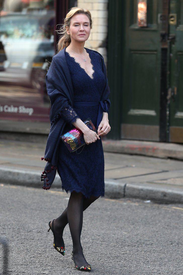 Pin for Later: Renée Zellweger Has Never Looked Better on the Set of Bridget Jones's Baby