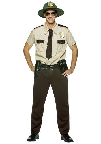 When you slip on this state trooper costume, you should be prepared to have the best mens cop costume and adult Halloween costume around.