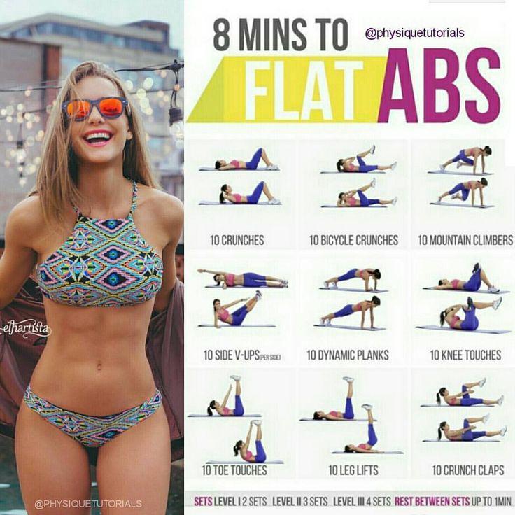 🏋️♀️ Flat abs workout 🙋 want a FREE 28 page workout plan? 👉…
