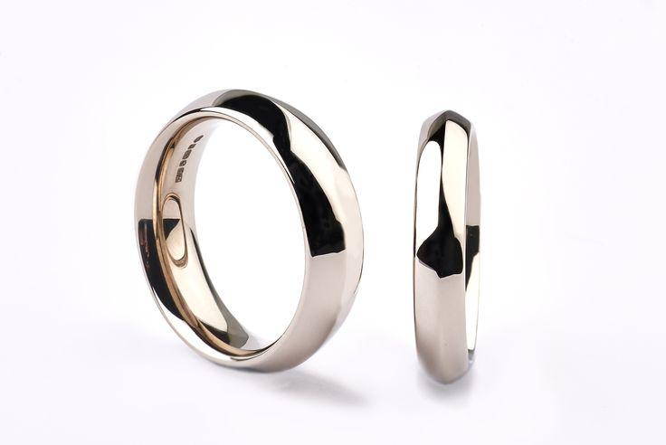 Fairtrade 18ct white gold Ridge rings #JonDibben #Fairtradegold #Fairtrade #weddingring