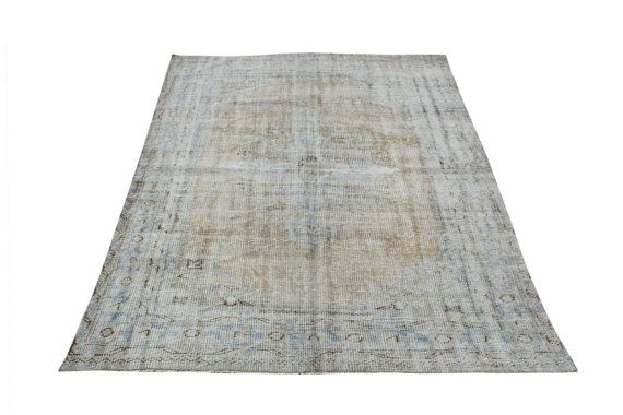 167x274 Overdyed Turkish Rugs Oushak by ArtcoreIstanbul