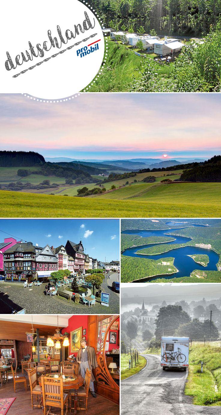 """Mit dem #Wohnmobil in die #Eifel Wo die Erde Augen macht  Das stille #Mittelgebirge im Westen der Republik ist eine höchst eigenwillige Gegend. Unsere #Wohnmobil-Tour führt durch unverbrauchte Natur, zu urigen Orten und zu den """"Augen der Eifel""""."""