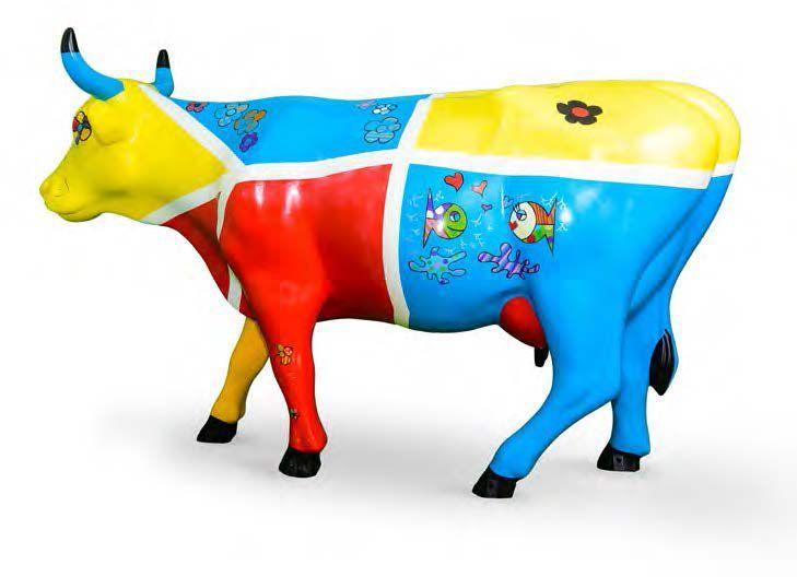 BRIGITTE SARRAT BABA COW'L L'ARTISTE Après des études d'attachée de presse à Paris et un passage à Europe 1, Brigitte SARRAT se passionne pour l'art en intégrant l' Ecole du Louvre. Depuis son installation… - Cornette de Saint Cyr - 31/10/2015 #Vache #Cow