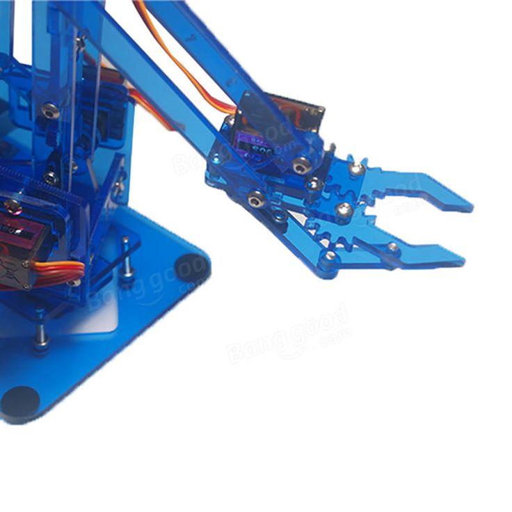 Mearm DIY 4DOF Arduino Robot Arm 4 Axis Rotating Kit With Joystick Button Controller 4pcs Servo Sale - Banggood.com